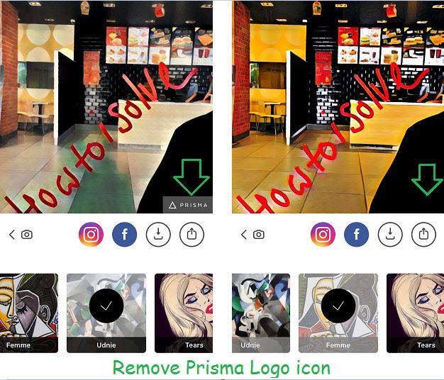 Remove Prisma Logo on iPhone, iPad with iOS 10