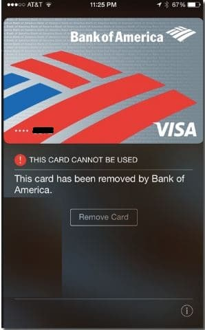 Remove old card on apple pay from iPhone