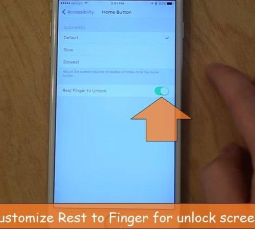 Disable Rest to finger unlock iOS 10 iPhone, iPad
