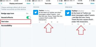 Change Tweet text and whole app text size