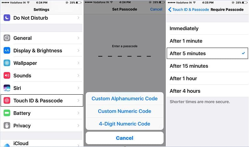 Setup Touch ID and Passcode for iOS 10