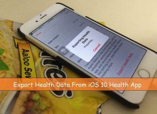 Prepare health app for export data