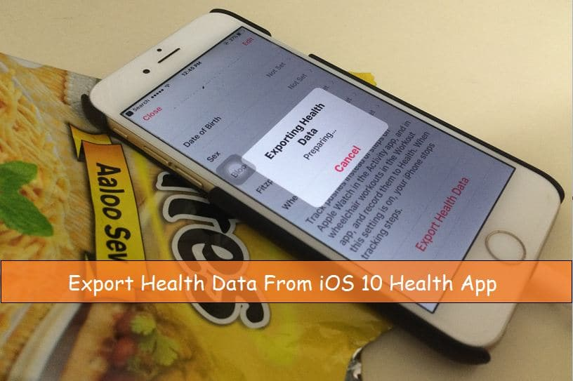 Prepare health app for export data