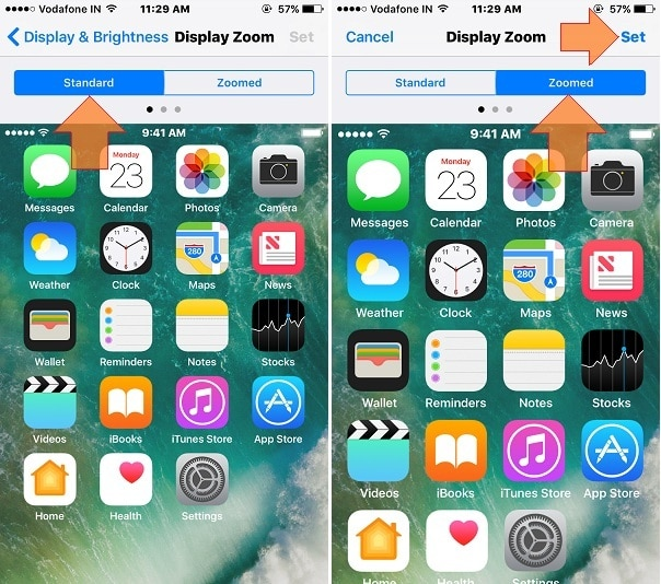 Home screen layout change in iPhone