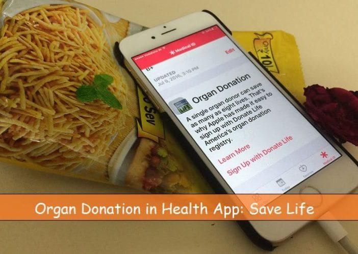 Setup Organ Donation in iPhone, iPad in iOS 10