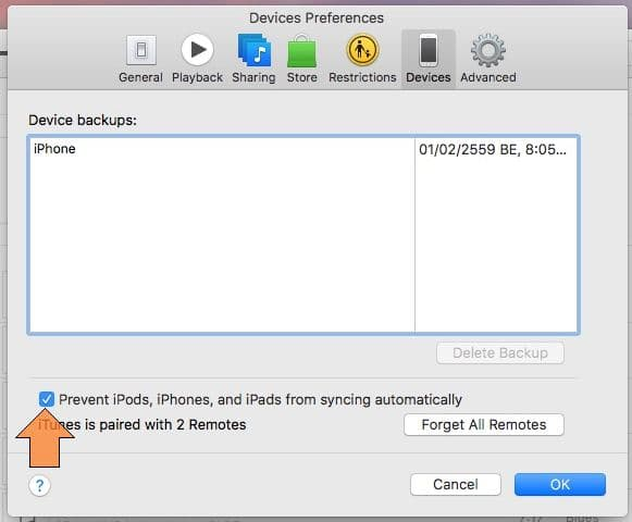 Stop auto backup Mac from iPhone