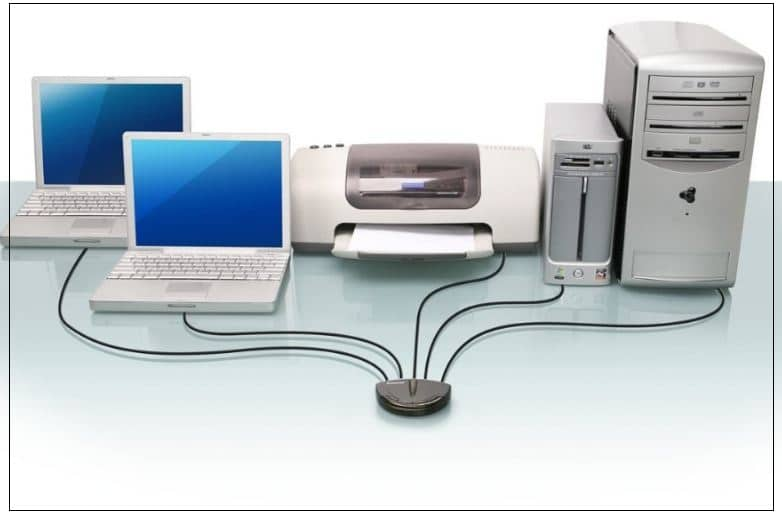 Multi-Port Printer server for multiple devices