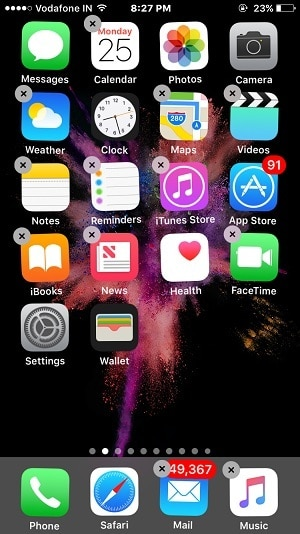 Delete App from Home screen