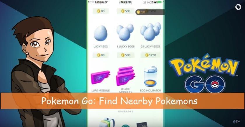 Find nearby Pokémon in Pokémon go in iPhone app