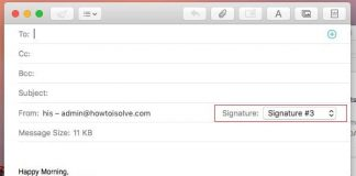 Email Signature with image in macOS Sierra running on Mac, iMac, Macbook