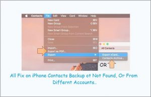 How to backup iPhone contacts on Mac: macOS Sierra