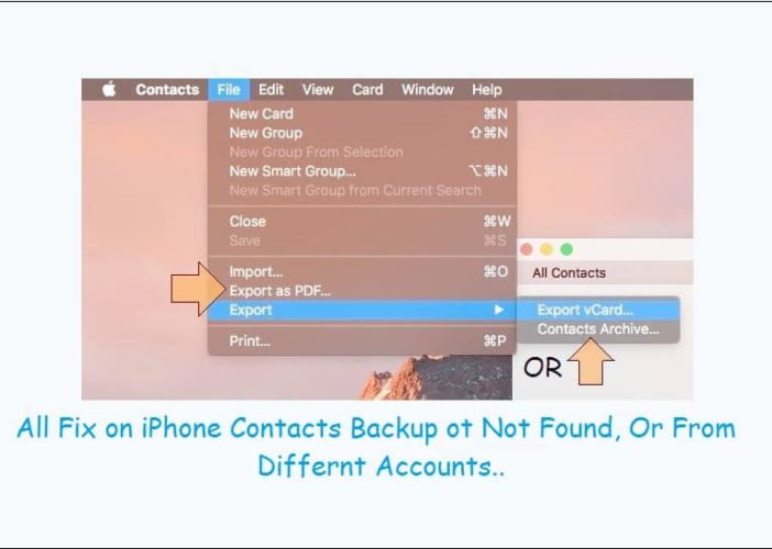 Fixed all problems on Fetch iPhone contacts and Backup