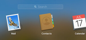 Contacts app on Launch pad on MacBook Mac