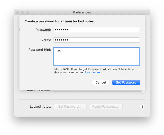 Create a new password and Verify- Enter same password two times