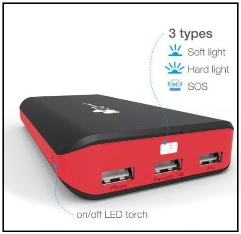 Portable Charger- Storage capacity 22400mAh