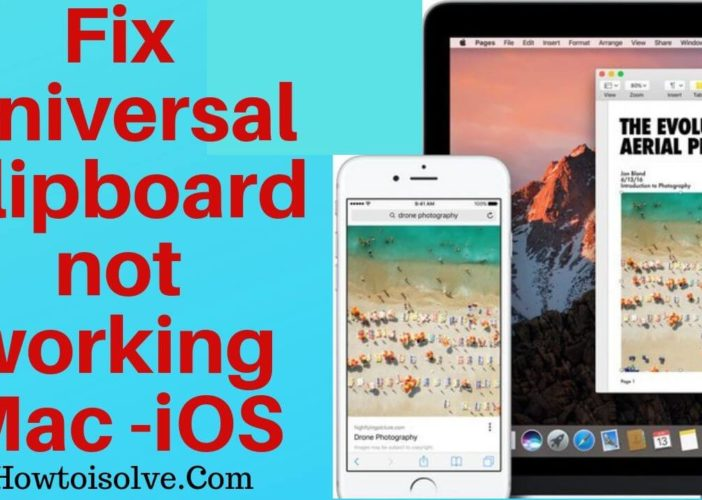 Fix Apple Universal Clipboard not working on Mac to iOS