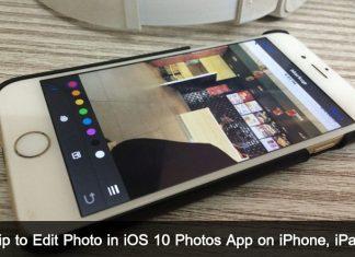 Way to Edit Photo in iOS 10 Photos app