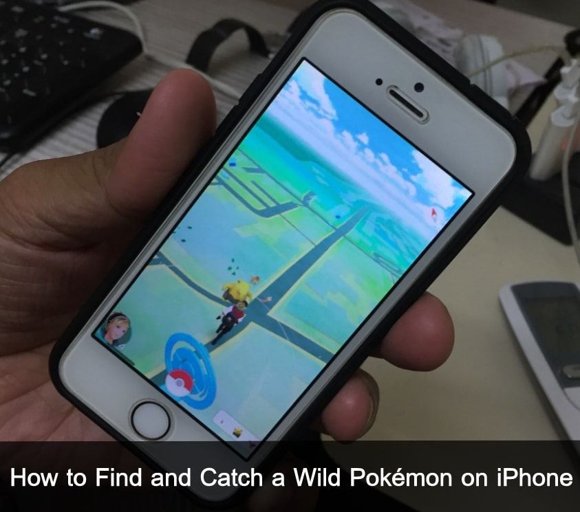 Catch Wild Pokémon on iPhone