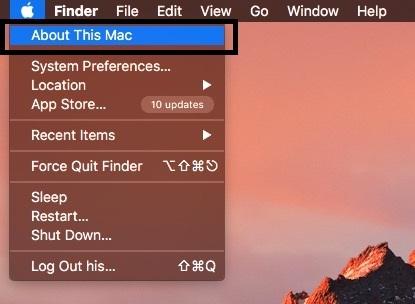 Apple logo appear on top menu bar