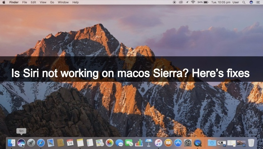 how to fix resolve Siri not Working on macOS Sierra 10.12