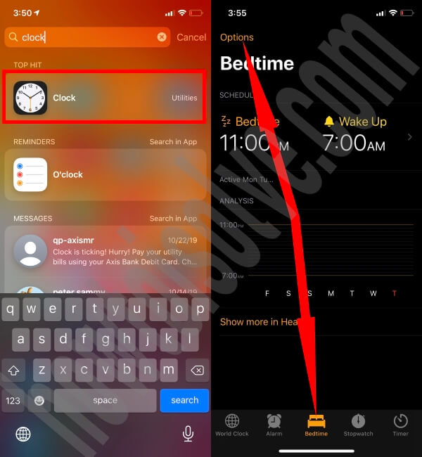 Set Up Bedtime on iPhone