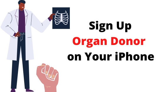 Sign Up Organ Donor on Your iPhone