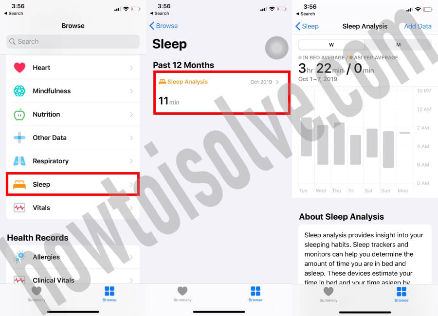 Track your Sleep on iPhone using Health App