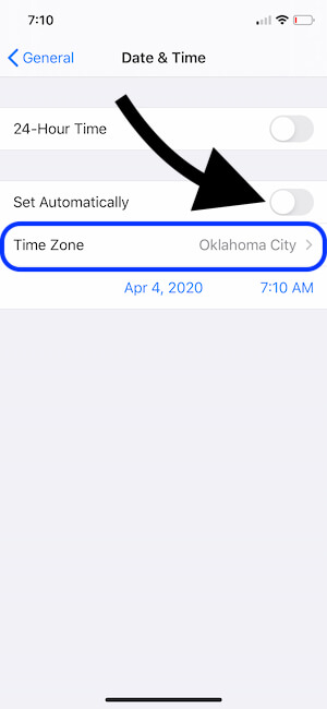Turn off and Manually Set Date and Time on iPhone settings