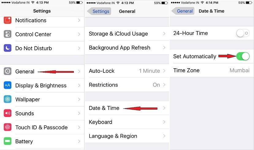 incorrect time zone on iPhone, iPad, iPod iOS 10