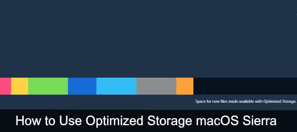 Use Optimized Storage macOS Sierra macbook, macbook pro, imac, macbook air