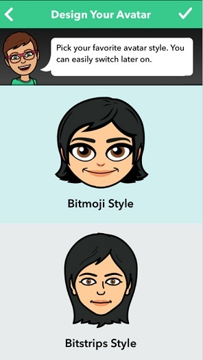 Design your Avatar on snapchat bitmoji iPhone