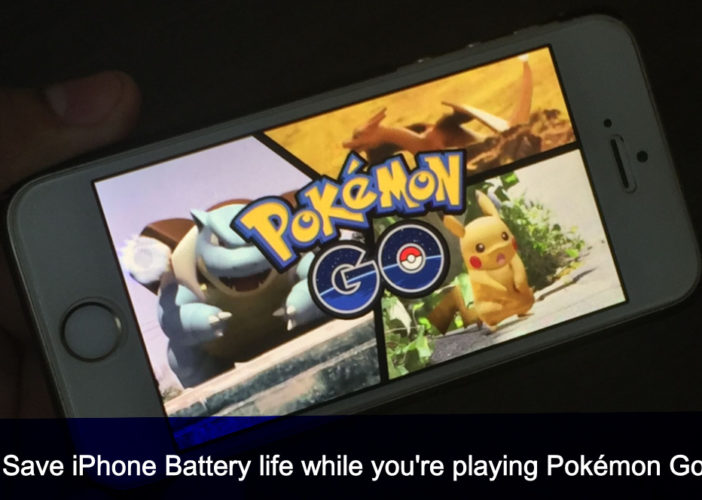 Save iPhone battery life while you playing Pokémon Go