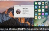 Universal Clipboard not working on macOS Sierra OS x 12