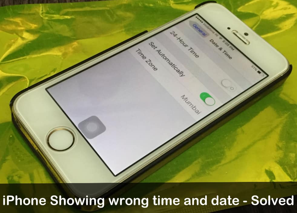 iPhone showing wrong date and time or time zone how to fix
