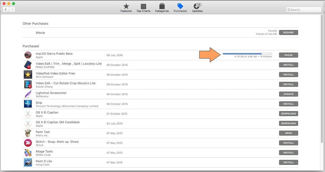 Start Download macos Sierra