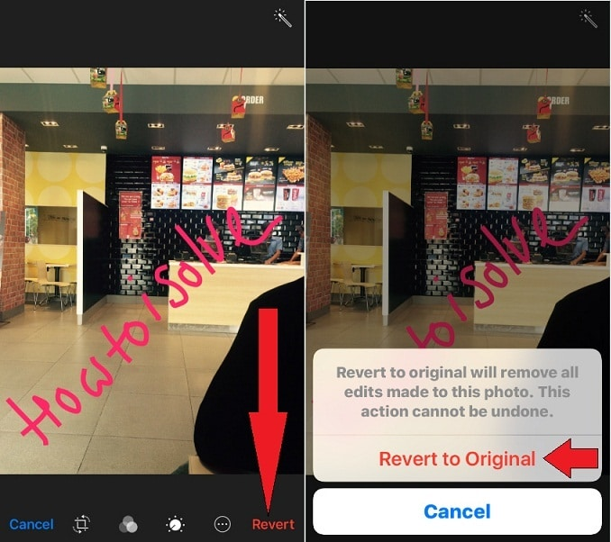 Use Revert to Original function in iOS 10 Photos app on iPhone, iPad and iPod Touch