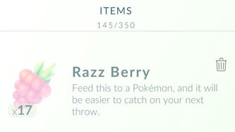 take a Razz berry Pokémon Go Game on your iPhone Find and Catch Wild Pokémon