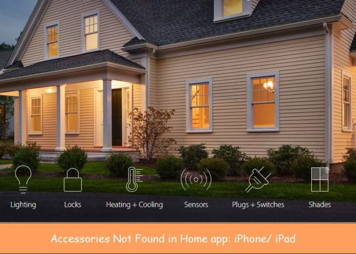 Accessories not found in home app on iPhone/ iPad