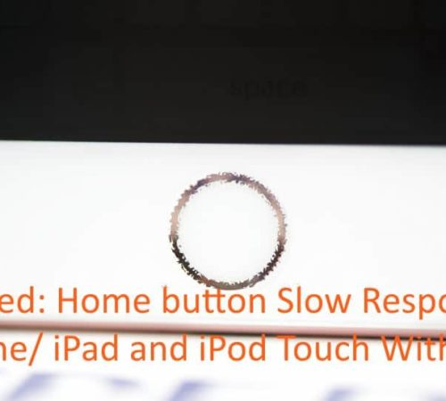 iPhone/ iPad home button slow to respond on press