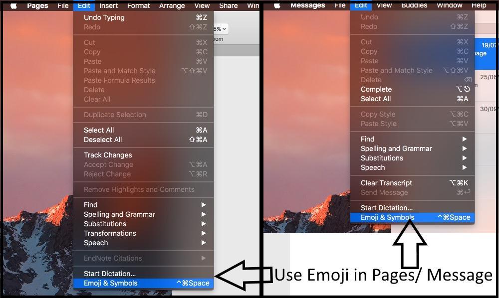 How to use emoji on macos Sierra and Customize Emoji window