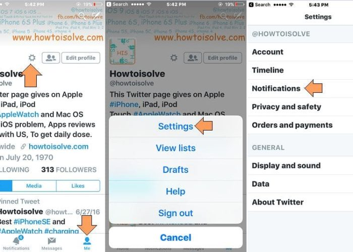 manage Twitter app notification on iPhone and iPad