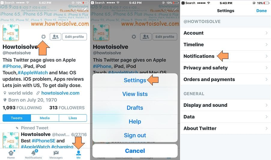 manage stop annoying twitter app notification on iphone ipad