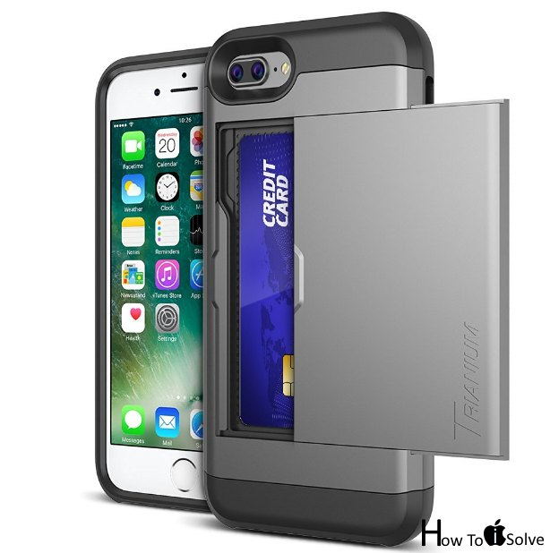 iPhone 7 Plus cases with card holder by Trianium
