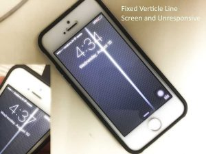 Fix iPhone screen lines vertical and unresponsive: iPhone 5S/ 6