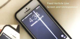 iPhone screen lines vertical on iPhone make unresponsive