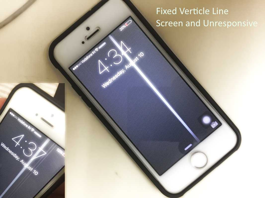 iPhone screen lines vertical on iPhone make unresponsive