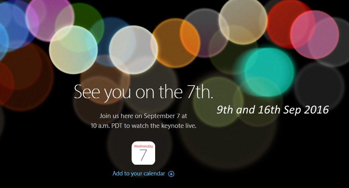 полезные даты для iPhone 7, 7 Plus или Apple Watch