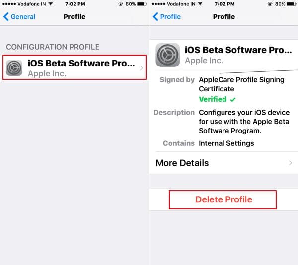 Delete iOS beta program from iDevice