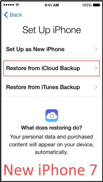 Strart Rector из резервной копии iCloud