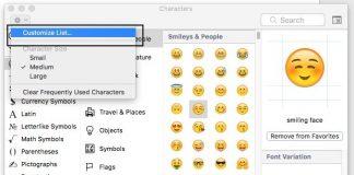 Customize emoji list on mac